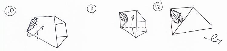 How to make an origami leaf card